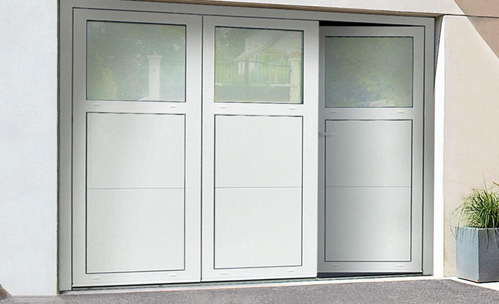 Porte de garage 3 vantaux